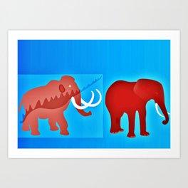 Ice age evolution Art Print