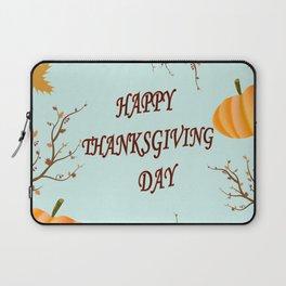 Happy Thanksgiving day postcard Laptop Sleeve