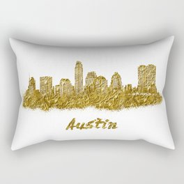 Austin skyline in gold color Rectangular Pillow