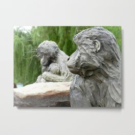 Stone Monkeys Metal Print