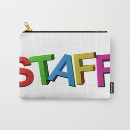 Colorful STAFF Carry-All Pouch