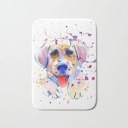 White labrador puppy portrait Bath Mat