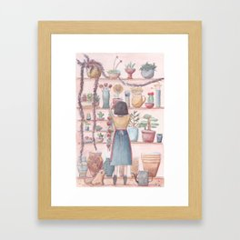 The Flower Shop Framed Art Print