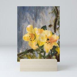 painted lilies Mini Art Print