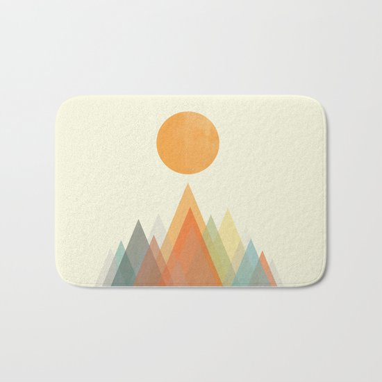 Spring in the mountains Bath Mat