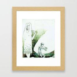 Mary on the Left Framed Art Print
