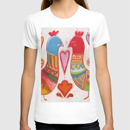Folk Love Birds T-shirt