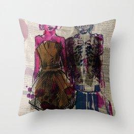 AA Couple Throw Pillow