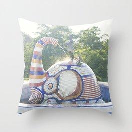 Children's Art Park, Kiev, Ukraine Throw Pillow