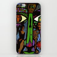 vonnegut iPhone & iPod Skins featuring Vonnegut - Canary in a Cat House by Neon Wildlife