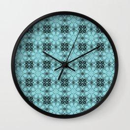Island Paradise Floral Geometric Wall Clock