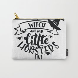 A Witch And Her Little Monster Carry-All Pouch