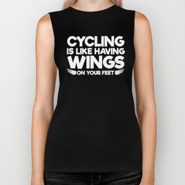 Cycling is Like having Wings on Your Feet T-Shirt Biker Tank