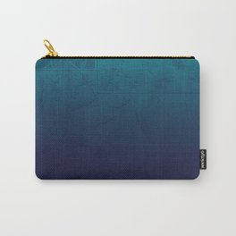 Blue Ombre Map Carry-All Pouch