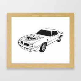 1976 Pontiac Firebird Trans Am Framed Art Print