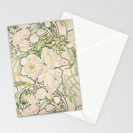 Alphonse Mucha - Peonies,1897 Stationery Cards