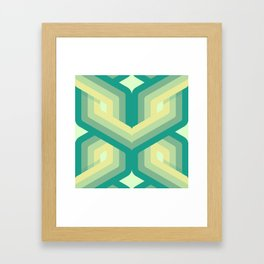 RETRO // Jaded Framed Art Print