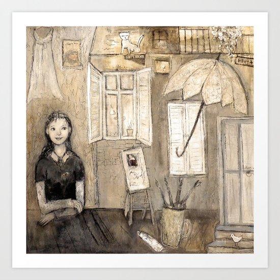 paints her world Art Print