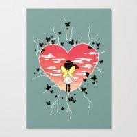 butterflies Canvas Prints featuring Butterflies by Freeminds