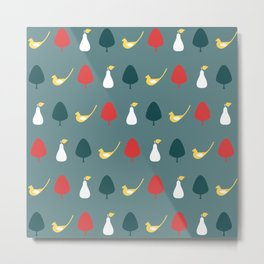 Partridge & Pear Tree Metal Print