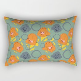 Ladies Orange Rectangular Pillow