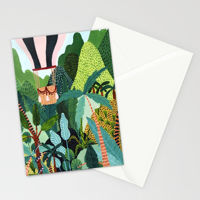 Hot Air Balloon Explorer Stationery Cards