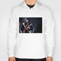 jack white Hoodies featuring Jack White Airline Satan by Christopher Chouinard