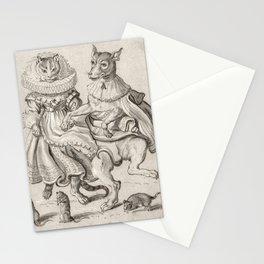 A Dancing Cat and Dog, Adriaen Pietersz. van de Venne, c. 1620 - c. 1660 Stationery Cards