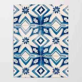 Blue Portugal Tiles #2 Poster