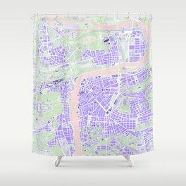 Prague map violet Shower Curtain