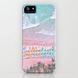aerial beach I iPhone Case