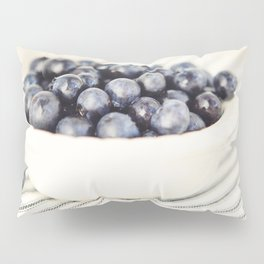 Scalloped Cup Full of Blueberries - Kitchen Decor Pillow Sham