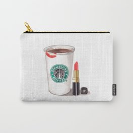 Starbucks ans lipstick Carry-All Pouch