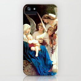 Madonna with Infant Jesus and Angels Virgin Mary Art iPhone Case