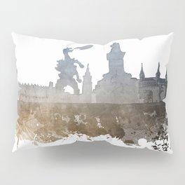 Cracow City Skyline #cracow #krakow Pillow Sham