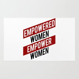 EMPOWERED WOMEN EMPOWER WOMEN Rug