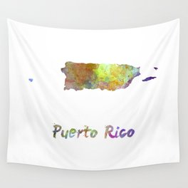Puerto Rico  in watercolor Wall Tapestry