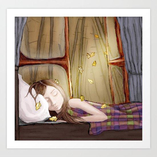 I wish it would rain autumn again Art Print