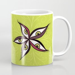 Tired Green Eyes Flower Coffee Mug