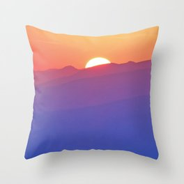 Follow the Sunset Throw Pillow