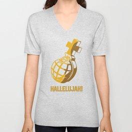 Holy Grenade Hallelujah Unisex V-Neck