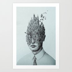 The Town of Thoughts Art Print