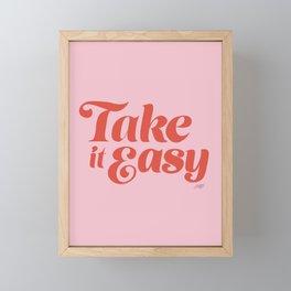 Take it Easy (Red/Pink Palette) Framed Mini Art Print