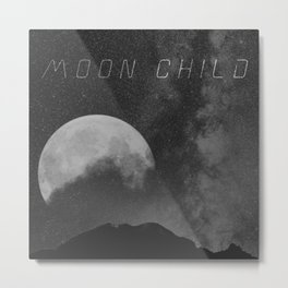 Space Cadet Moon Child Metal Print