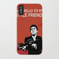 scarface iPhone & iPod Cases featuring Scarface Say Hello to My Little Friend by Florian Rodarte