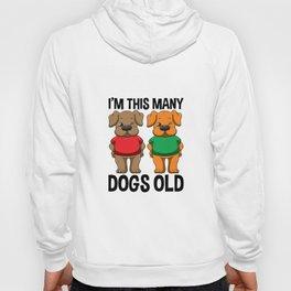 I'm This Many Dogs Old 2 Yr Boy Girl Birthday Idea Hoody