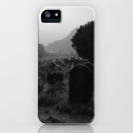 Foggy Graveyard... | Halloween Art | iPhone Case
