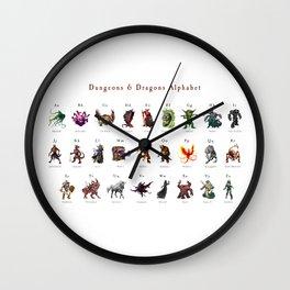 Monster Alphabet Wall Clock