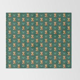 Geometric Foxes Throw Blanket
