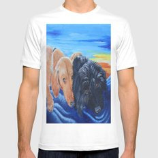 Doxies White Mens Fitted Tee MEDIUM
